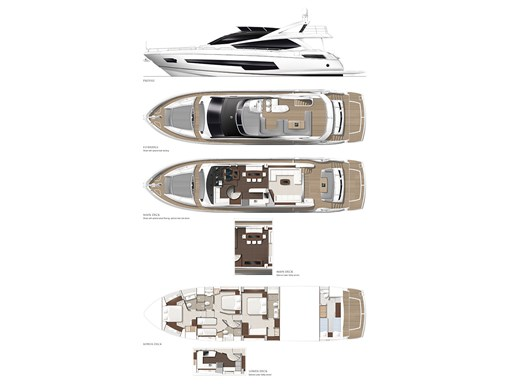 75 Yacht GA showing options A1 issue 1