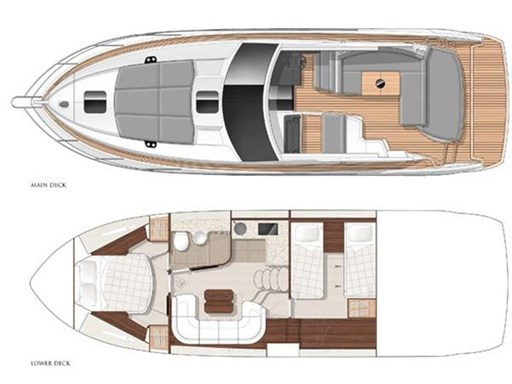 2. Sunseeker Portofino 40 Layout