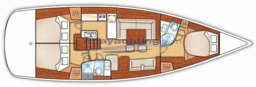 Layout Oceanis 50