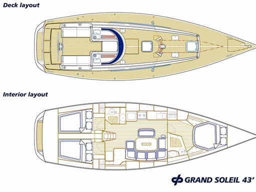 Abayachting Grand Soleil 43 Layout