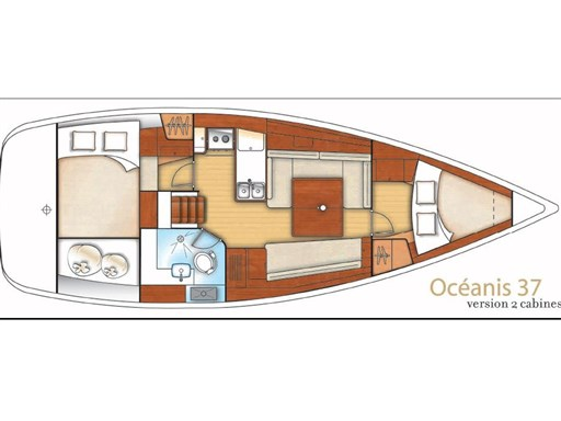 Layout Beneteau Oceanis 37 Limited