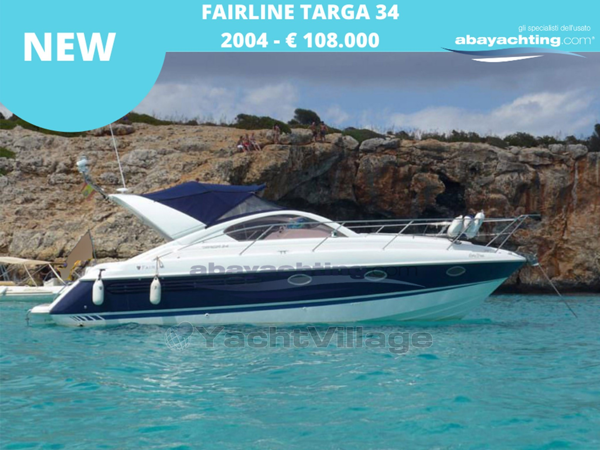 Abayachting Nuovo arrivo Fairline Targa 34