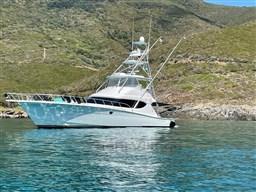 Hatteras 60, anchored
