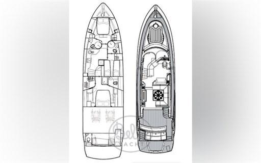 layout - Sunseeker Manhattan 60 Flybridge - Bella Yacht - Mathieu Gueudin - Yacht Broker - Sale - Rent - Charter - Management - Monaco - Cannes - Saint Tropez