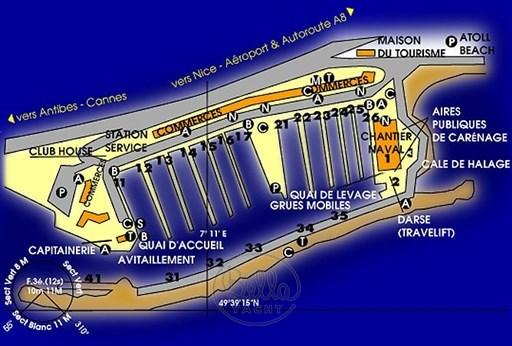 place de port-saint larent du Var- anneaux - cote d'azur -plan-port