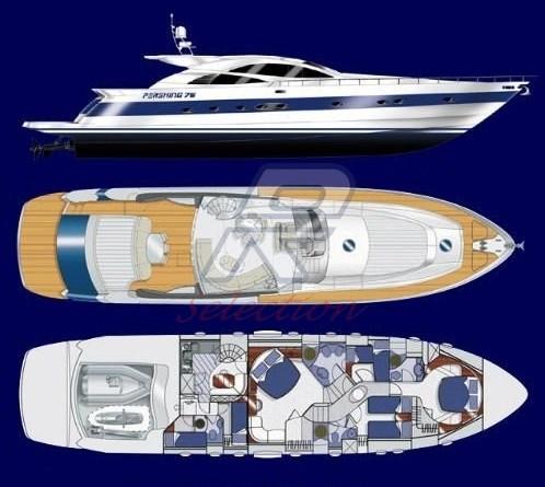 Pershing 76 - 2005 layout